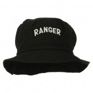 Ranger Embroidered Bucket Hat - Black