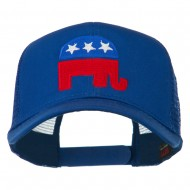 Republican Elephant USA Embroidered Mesh Back Cap - Royal