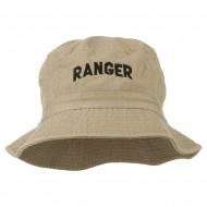 Ranger Embroidered Bucket Hat - Khaki