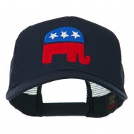 Republican Elephant USA Embroidered Mesh Back Cap - Navy