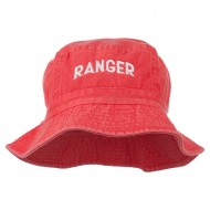 Ranger Embroidered Bucket Hat - Red