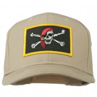 Jolly Roger Scarf Skull Patched Cap - Khaki