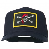 Jolly Roger Scarf Skull Patched Cap - Navy