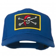Jolly Roger Scarf Skull Patched Cap - Royal