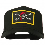 Jolly Roger Scarf Skull Patched Cap - Black
