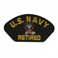 Big Size Retired Military Large Patch - Black Navy