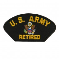 Big Size Retired Military Large Patch - Black Army