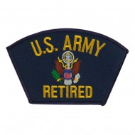 Big Size Retired Military Large Patch - Blue Army