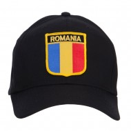 Romania Europe Flag Patched Cap - Black