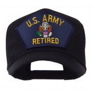 Retired Military Large Embroidered Patch Cap - Air Retired