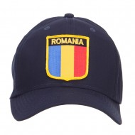 Romania Europe Flag Patched Cap - Navy