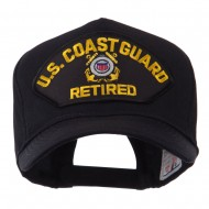 Retired Military Large Embroidered Patch Cap - CG Retired