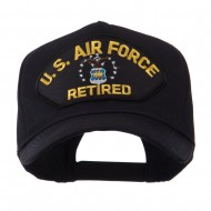 Retired Military Large Embroidered Patch Cap - Blue Air