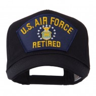Retired Military Large Embroidered Patch Cap - Blue Army