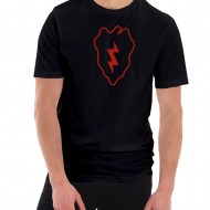 Army 25th Infantry Division Insignia Graphic Short Sleeve Jersey T-Shirt - Black
