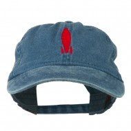 Image of Rocket Embroidered Washed Cap - Navy