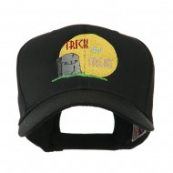Halloween RIP and Trick or Treat Embroidered Cap - Black