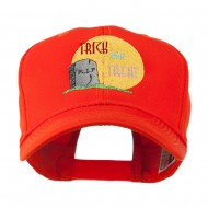Halloween RIP and Trick or Treat Embroidered Cap - Orange