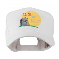 Halloween RIP and Trick or Treat Embroidered Cap - White