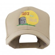 Halloween RIP and Trick or Treat Embroidered Cap - Khaki