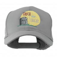 Halloween RIP and Trick or Treat Embroidered Cap - Grey