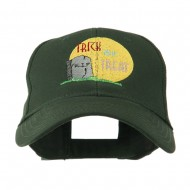 Halloween RIP and Trick or Treat Embroidered Cap - Green