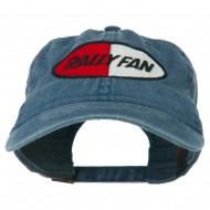 Rally Fan Race Badge Embroidered Washed Cap - Navy