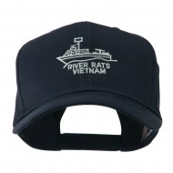 River Rats Vietnam with Riverboat Embroidered Cap - Navy