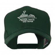 River Rats Vietnam with Riverboat Embroidered Cap - Green