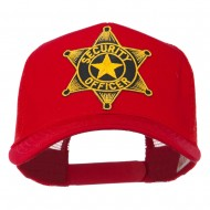 Security Officer Star Patched Mesh Back Cap - Red
