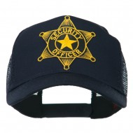 Security Officer Star Patched Mesh Back Cap - Navy