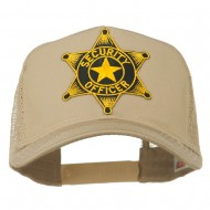 Security Officer Star Patched Mesh Back Cap - Khaki