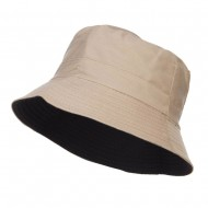 Men's Reversible Cotton Bucket Hat - Beige Black