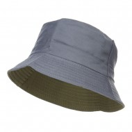 Men's Reversible Cotton Bucket Hat - Grey Green