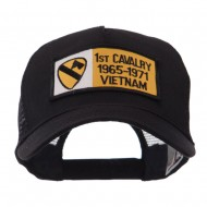 Army Rectangle Military Patched Mesh Cap - 1st Cav