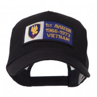 Army Rectangle Military Patched Mesh Cap - Aviation