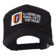 Army Rectangle Military Patched Mesh Cap - 1st Single