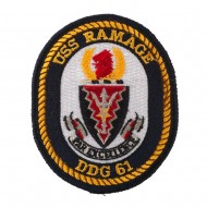USS Rope Border Patches - USS Ramage