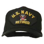 US Navy Retired Military Patched Cap - Black