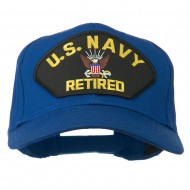 US Navy Retired Military Patched Cap - Royal