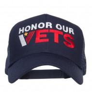 Honor Our Vets Embroidered Mesh Cap - Navy