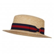 Straw Fine Weave 2 Inch Brim Hat - Natural