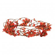 Women's Flower Wreath Headband - Coral