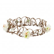 Women's Flower Wreath Headband - White