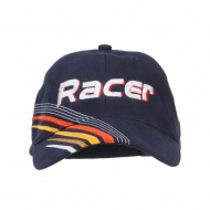 Racer Embroidered Deluxe Cotton Cap - Navy