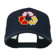 Recycle Logo Embroidered Mesh Cap - Navy