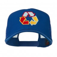 Recycle Logo Embroidered Mesh Cap - Royal