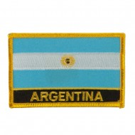 North and South America Flag Embroidered Patch - Argentina