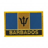 North and South America Flag Embroidered Patch - Barbados