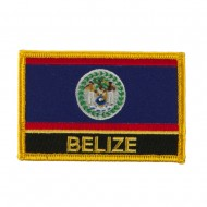 North and South America Flag Embroidered Patch - Belize
